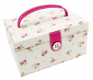 Button It Sewing Box Floral